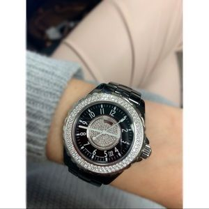 CHANEL J12 Black Ceramic Diamond Automatic Watch